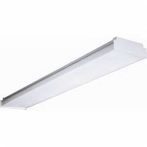 Cooper Lighting WS-2A-U Replacement Lens; For 4 ft WS Series 2-Lamp Wraparound Fluorescent Fixtures