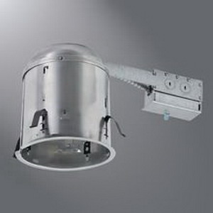 Cooper Lighting H7RICT Halo® 1-Light Ceiling Mount Line Voltage 6 Inch Remodel Housing; Die-Cast Aluminum, Insulated