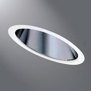 Cooper Lighting 810C Halo® 2-Light Ceiling Mount Trim With Specular Reflector; Non-Insulated, White Trim Ring, Clear Reflector