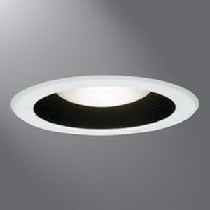 Cooper Lighting 5001MB Halo 5 Inch Recessed Trim With Black Metal Baffle In