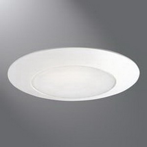 Cooper Lighting ERT701 Halo® 1-Light Ceiling Mount 6 Inch Albalite Lens Trim; Polymer Trim, Albalite Glass Lens, High Gloss White