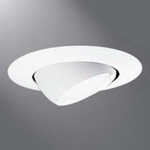 Cooper Lighting ERT704 Halo® 1-Light Ceiling Mount 6 Inch Eyeball Trim; High Gloss White Trim and Eyeball