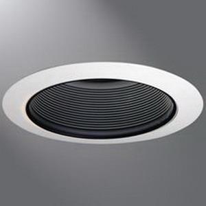 Cooper Lighting ERT707 Halo® 1-Light Ceiling Mount 6 Inch Trim; Plastic, Gloss White