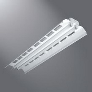 Cooper Lighting 8TIAF-232-UNV-EB81-U IAF Series 2-Light Industrial Fluorescent Strip Light; Baked White Enamel