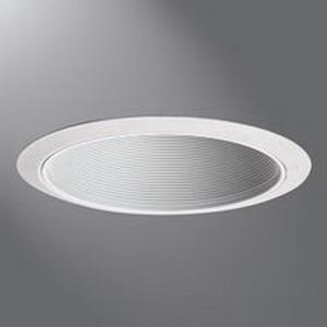 Cooper Lighting 312W Halo® Coilex® 1-Light Ceiling Mount 6 Inch Baffle Trim; Metal Ring, White