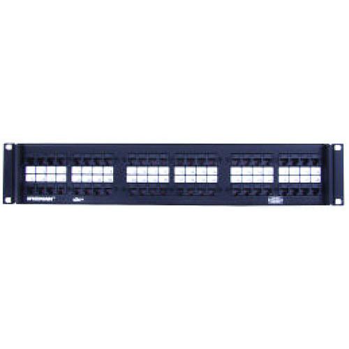 Hubbell Premise P5E24U SpeedGain® Category 5e RJ45 Patch Panel; Rack Flush Mount, 24-Port, 1-Rack Unit, Black
