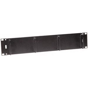 Hubbell Premise HC219MS3N Cable Management Horizontal Basic Panel; 20.600 Inch x 19 Inch x 3.500 Inch, Steel, Black