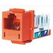 Hubbell Premise HXJ5EOR25 Xcelerator™ Speedgain™ Universal Standard Size Category 5e Modular Datacom Jack; 8P8C, Orange