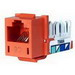 Hubbell Premise HXJ6OR25 Xcelerator™ Nextspeed® Category 6 RJ45 Jack Module; 8P8C, Orange