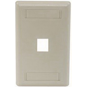 Hubbell Premise IFP11EI iStation™ 1-Gang Standard IFP Faceplate; Flush, (1) Port, ABS, Electric Ivory