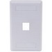 Hubbell Premise IFP11W iStation™ 1-Gang Standard IFP Faceplate; Flush, (1) Port, ABS, White