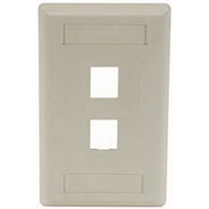 Hubbell Premise IFP12EI iStation™ 1-Gang Standard IFP Faceplate; Flush, (2) Port, ABS, Electric Ivory