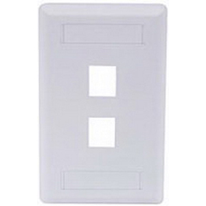 Hubbell Premise IFP12W iStation™ 1-Gang Standard IFP Faceplate; Flush, (2) Port, ABS, White