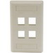 Hubbell Premise IFP14EI iStation™ 1-Gang Standard IFP Faceplate; Flush, (4) Port, ABS, Electric Ivory
