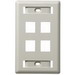 Hubbell Premise IFP14OW iStation™ 1-Gang Standard IFP Faceplate; Flush, (4) Port, ABS, Off White