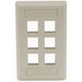 Hubbell Premise IFP16EI iStation™ 1-Gang Standard IFP Faceplate; Flush, (6) Port, ABS, Electric Ivory
