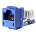 Hubbell Premise HXJ5EB Xcelerator™ Speedgain™ Universal Standard Size Category 5e Modular Datacom Jack; 8P8C, Blue