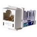 Hubbell Premise HXJ5EOW Xcelerator™ Speedgain™ Universal Standard Size Category 5e Modular Datacom Jack; 8P8C, Off White