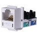 Hubbell Premise HXJ5EW Xcelerator™ Speedgain™ Universal Standard Size Category 5e Modular Datacom Jack; 8P8C, White