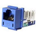 Hubbell Premise HXJ6B Xcelerator™ Nextspeed® Universal Category 6 Modular Jack; 8P8C, Blue