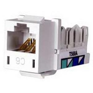 Hubbell Premise HXJ6W Xcelerator™ Nextspeed® Universal Category 6 Modular Jack; 8P8C, White