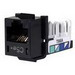 Hubbell Premise HXJ5EBK Xcelerator™ Speedgain™ Universal Standard Size Category 5e Modular Datacom Jack; 8P8C, Black