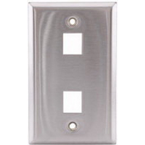 Hubbell Premise SSF12 iStation™ 1-Gang Faceplate; Flush, (2) Port, Stainless Steel