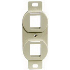Hubbell Premise BR106E 1-Gang Duplex 106 Outlet Frame; Flush, (2) Port, High Impact Polymer, Electric Ivory