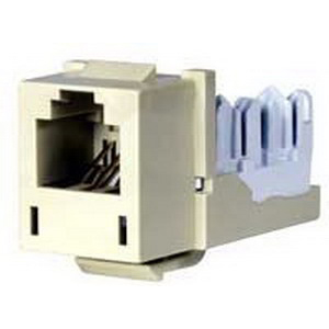 Hubbell Premise HXJUEI Xcelerator™ USOC Standard Size Category 3 RJ11 Modular Jack; 6P, Electric Ivory