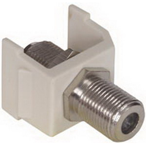 Hubbell Premise SFFX iSTATION™ RG-6/RG-59 Female F-Type Connector; Snap-On- Snap-Fit Mount, White
