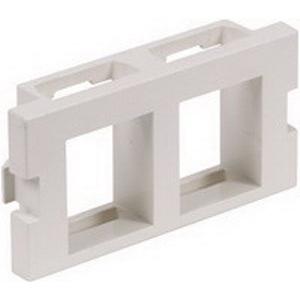 Hubbell Premise IM2K1OW iStation™ 1-Gang Unloaded AV Module; Snap-On, (2) Port, 110 UTP, Keystone, High Impact Polymer, Off White
