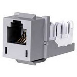 Hubbell Premise HXJUGY Xcelerator™ USOC Standard Size Category 3 RJ11 Modular Jack; 6P, Gray