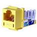 Hubbell Premise HXJ5EY Xcelerator™ Speedgain™ Universal Standard Size Category 5e Modular Datacom Jack; 8P8C, Yellow