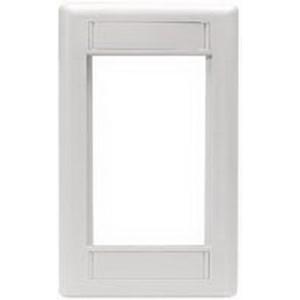 Hubbell Premise IMF1OW iStation™ 1-Gang Modular Plate Frame; Flush, (1) Keystone, Flame Retardant ABS, Off White