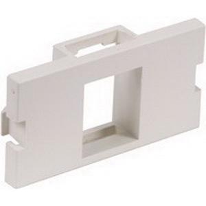 Hubbell Premise IM1K1OW 1-Gang Unloaded AV Module; Snap-On, (1) Port, 110 UTP, Keystone, High Impact Polymer, Off White