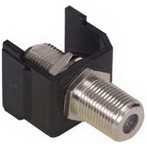 Hubbell Premise SFFLAX iSTATION™ RG-6/RG-59 Female F-Type AV Connector; Snap-On- Snap-Fit Mount, Light Almond