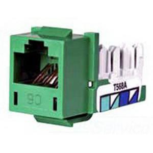 Hubbell Premise HXJ6GN25 Xcelerator™ Nextspeed® Category 6 RJ45 Jack Module; 8P8C, Green