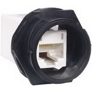 Hubbell Premise HI5EC Category 5e In-Line RJ45 to RJ45 Coupler; Black