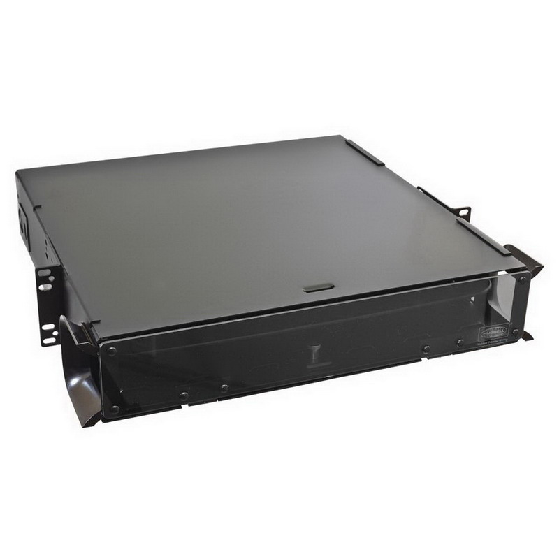 Hubbell Premise FCR2U6SP OptiChannel™ Fiber Optic Enclosure; Rack Mount, 2-Rack Unit, Black