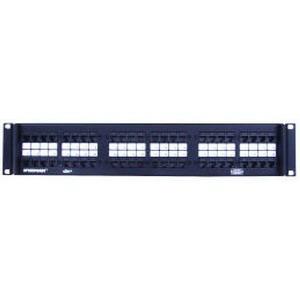 Hubbell Premise P5E48U SpeedGain® Category 5e RJ45 Patch Panel; Rack Flush Mount, 48-Port, 2-Rack Unit, Black