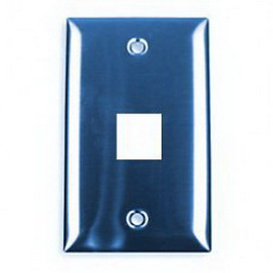 Hubbell Premise P630S1G iStation™ 1-Gang Wallplate; Flush, Stainless Steel