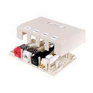 Hubbell Premise ISB2OW Istation™ Low Profile Surface Mount Box; Screw Mount, Composite, Off-White, (2) Port