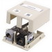 Hubbell Premise ISB2W Istation™ Low Profile Surface Mount Box; Screw Mount, Composite, White, (2) Port