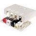 Hubbell Premise ISB4OW Istation™ Low Profile Surface Mount Box; Screw Mount, Composite, Off-White, (4) Port