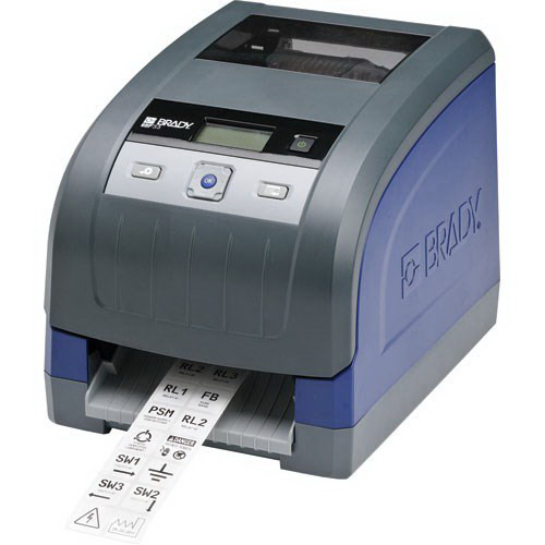 Brady BBP33-C-PROMO4 Drop-In Sign and Label Facility Printer 9.080 Inch Width x 12 Inch Depth x 9.510 Inch Height  Blue/Gray