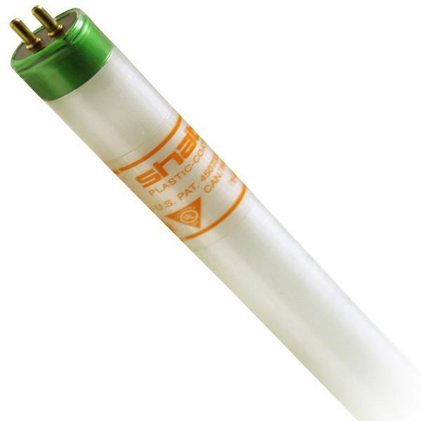 """""Shat-R-Shield 82544H Straight T5 Linear Fluorescent Lamp 54 Watt, 4100K, 86 CRI, Miniature Bi-Pin G5 Base, 30000 Hour Life,"""""" 109127"