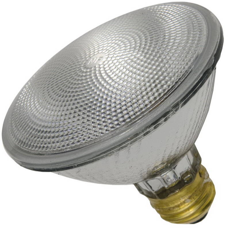 Shat-R-Shield 01589S PAR38 Halogen Reflector Lamp; 70 Watt, 120 Volt, 2875K, 100 CRI, Medium Screw (E26) Base, 3000 Hour Life