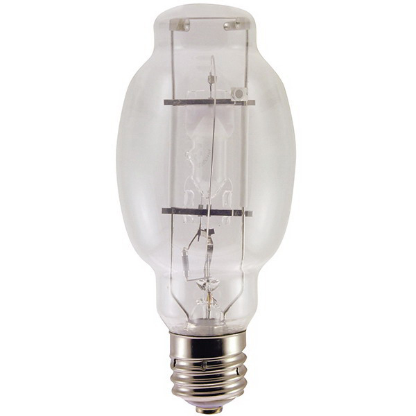 Shat-R-Shield 93500S BT28 Metal Halide Lamp; 175 Watt, 132 Volt, 4000K, 65 CRI, Exclusionary Mogul (EX39) Base, 10000 Hour Life, Clear