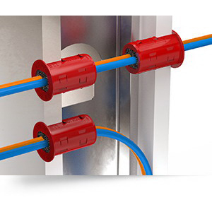 Specified Technologies RFG1 EZ-Path Two-Piece Firestop Split Cable Grommet; Red, 1.625 Inch