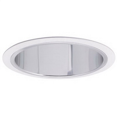 Nora NTS-41 1-Light Coil Springs Mount 6 Inch Reflector With Plastic White Ring; 5.750 Inch Aperture x 7.125 Inch OD x 2.750 Inch Height